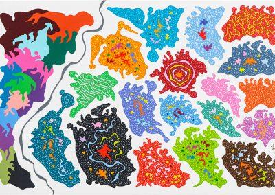 26_Mariage des couleurs_120x80cm_Acrylique sur toile